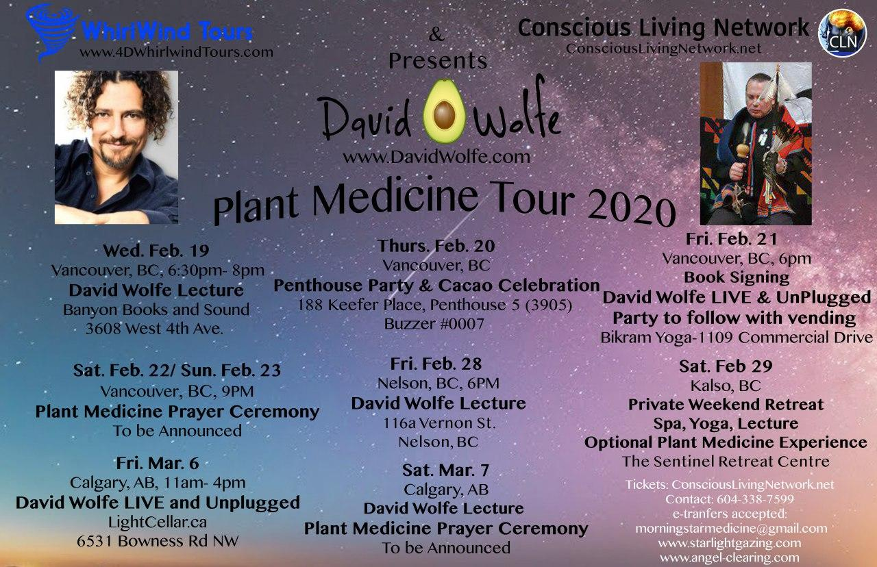 "David ""Avocado"" Wolfe Plant Medicine Tour BC 2020"