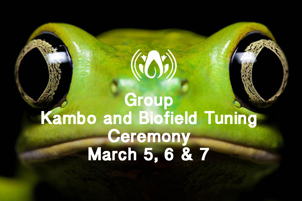 Friday March 5-8:  3 Day Kambo Ceremony with Biofield Tuning