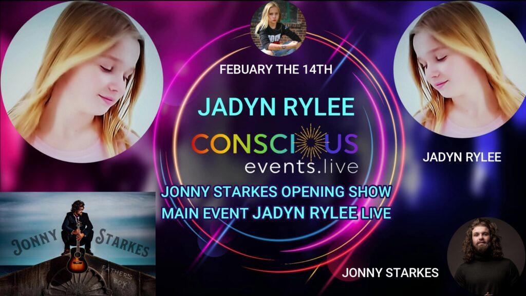 Sunday February 14: Jadyn Rylee & Jonny Starkes! ON-LINE – Live and Interactive Valentine's Day Musical Celebration