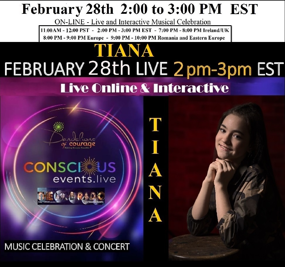 TIANA Cilibiu – On-Line: Live and Interactive All Ages Concert
